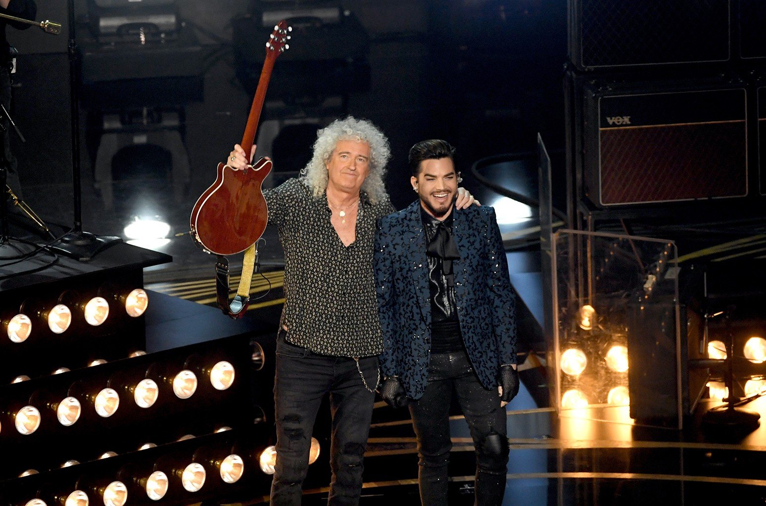 Oscars 2019 Queen Adam Lambert Perform We Will Rock You We Are The Champions Billboard Billboard