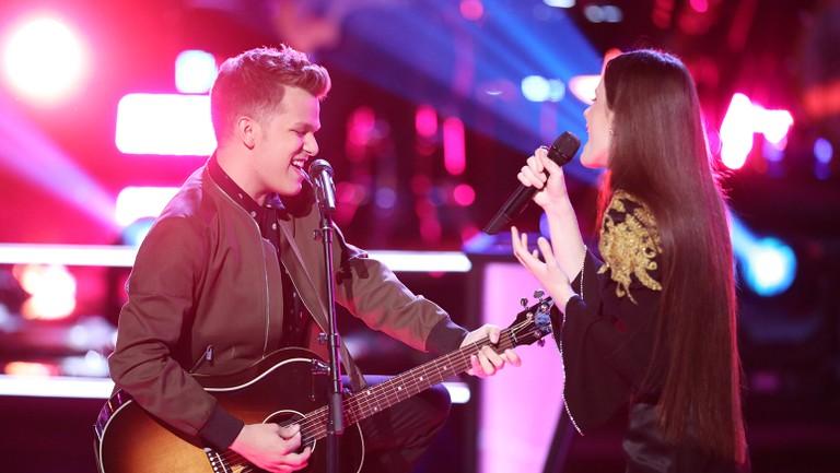 Britton Buchanan and Jaclyn Lovey Battle to Ed Sheeran's 'Thinking Out  Loud' on 'The Voice' | Billboard | Billboard