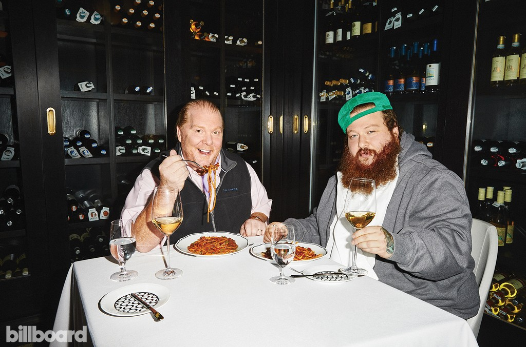 Mario Batali and Action Bronson photographed on March 4, 2016 at La Sirena in New York.