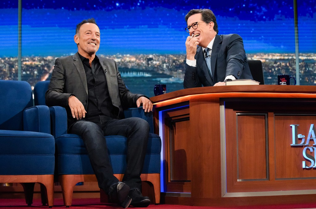 Bruce Springsteen on The Late Show with Stephen Colbert on Sept. 23, 2016.