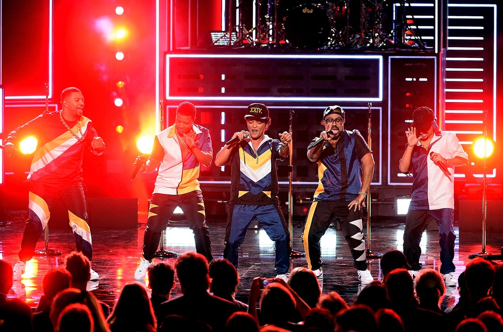 Bruno Mars performs during the 2016 American Music Awards
