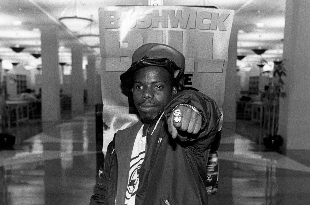 Bushwick Bill of The Geto Boys poses for photos at the Harold Washington Library in Chicago in 1992.