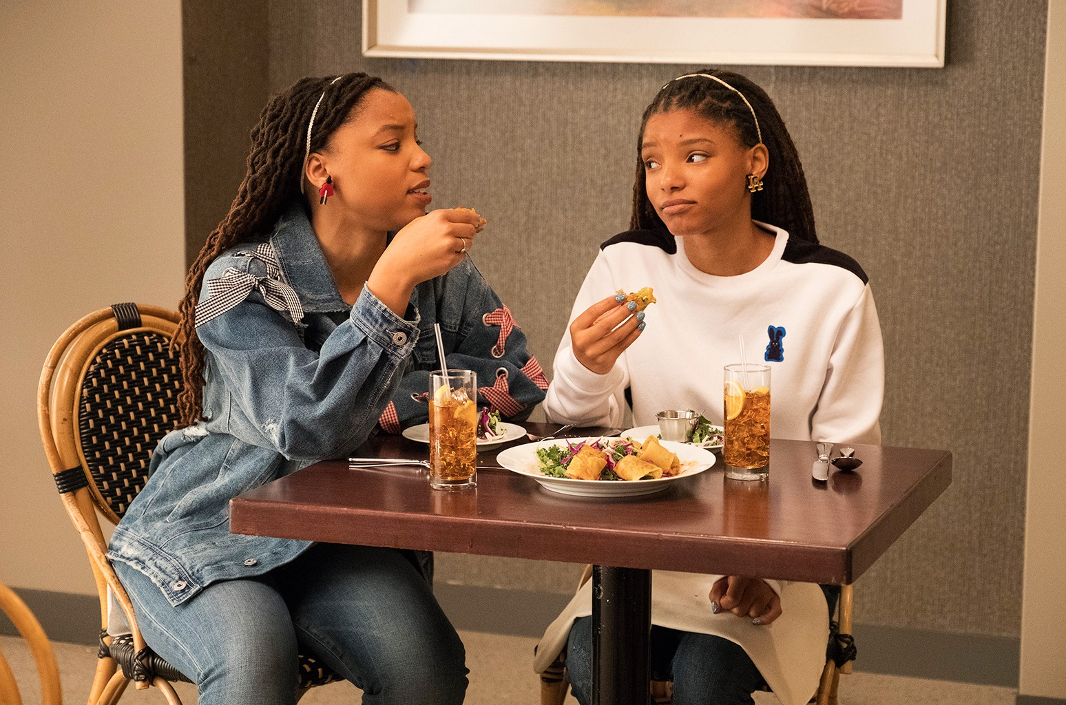 Chloe Bailey and Halle Bailey on Grown-ish.