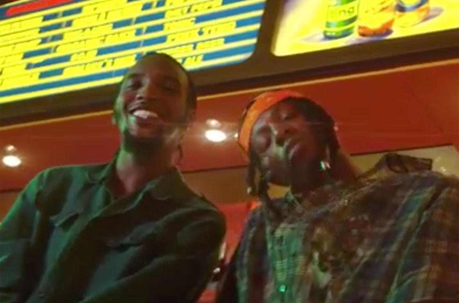 "CJ Fly and Joey Badass from CJ's ""RUDEBWOY"""