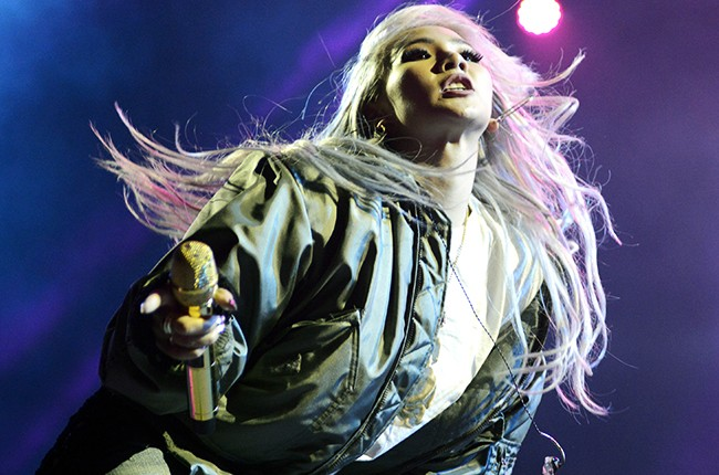 CL performs during the Mad Decent Block Party at The Greek Theatre on September 11, 2015 in Berkeley, Calif.