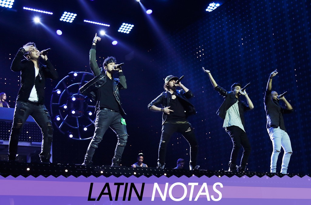 CNCO performs during rehearsals at the Watsco Center in the University of Miami on April 25, 2017 in Coral Gables, Fla.