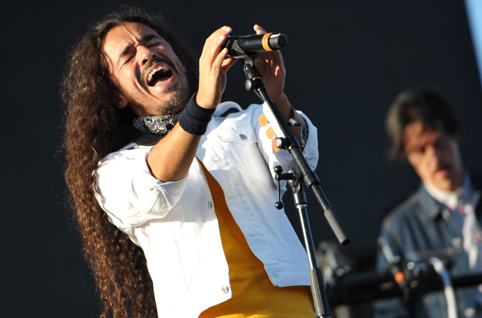 Cafe Tacuba perform at the Empire Polo Club on in Indio, Calif. (Photo by John Shearer/Invision/AP)