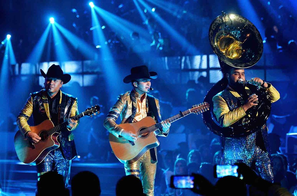 "Calibre 50 performs on stage during Univision's ""Premios Juventud"" 2017 Celebrates The Hottest Musical Artists And Young Latinos Change-Makers at Watsco Center on July 6, 2017 in Coral Gables, Fla."
