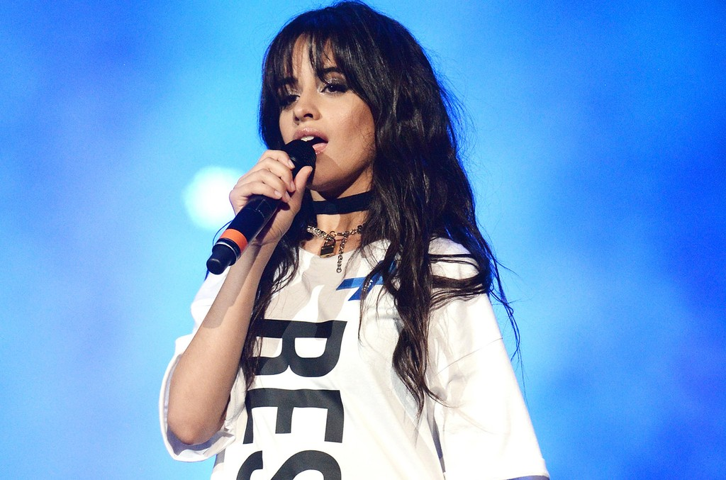 Camila Cabello performs onstage during the WELCOME! - Fundraising Concert Benefiting the ACLU at the Staples Center on April 3, 2017 in Los Angeles.