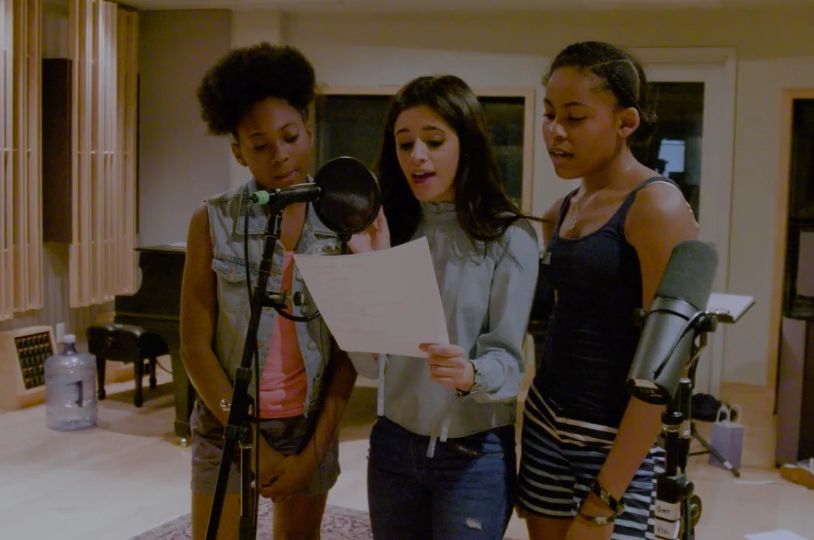 "Camila Cabello and two students sing ""Power In Me"""