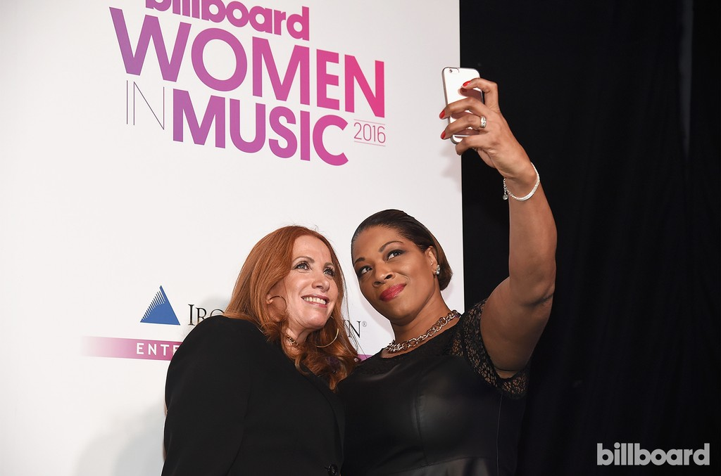 Cara Lewis and Leesa Brunson attend the Billboard Women in Music 2016 event on Dec. 9, 2016 in New York City.
