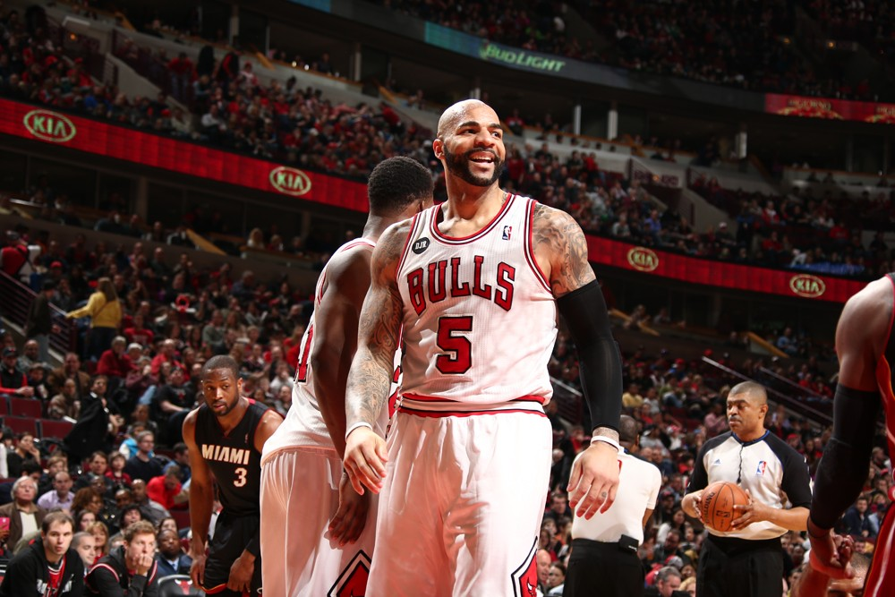 Carlos Boozer #5 of the Chicago Bulls