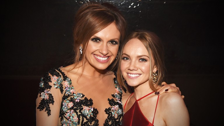 <p>Carly Pearce and Danielle Bradbery attend the Big Machine Label Group&#39&#x3B;s celebration of the 51st Annual CMA Awards at FGL House in Nashville on November 8, 2017 in Nashville, Tenn.</p>