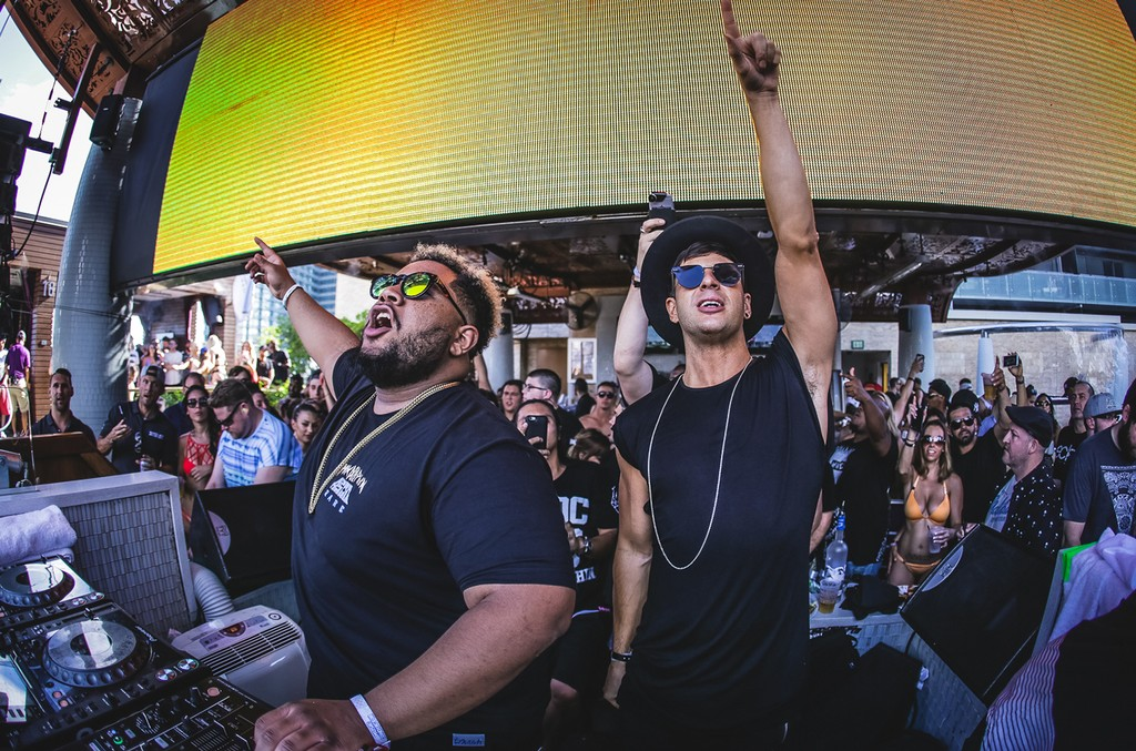 Carnage and Timmy Trumpet at Marquee Day Club.