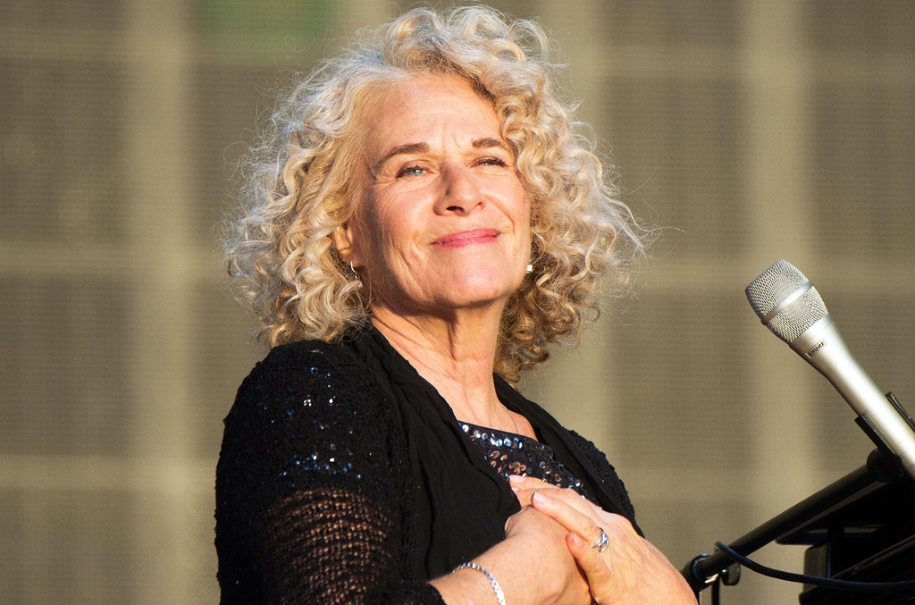Carole King performs at Hyde Park on July 3, 2016 in London.
