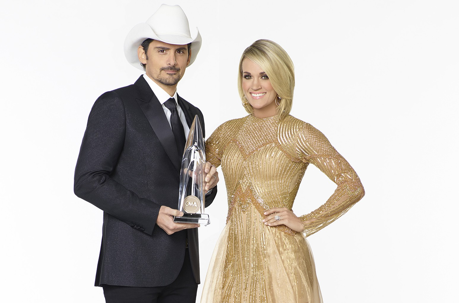 Brad Paisley and Carrie Underwood.