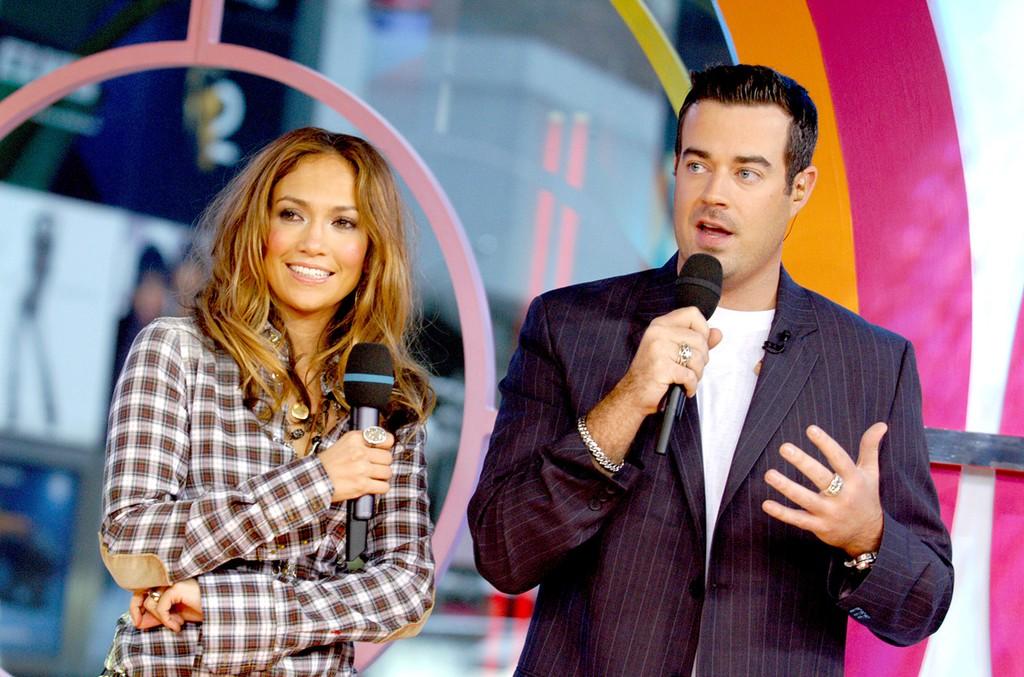 Jennifer Lopez and Carson Daly