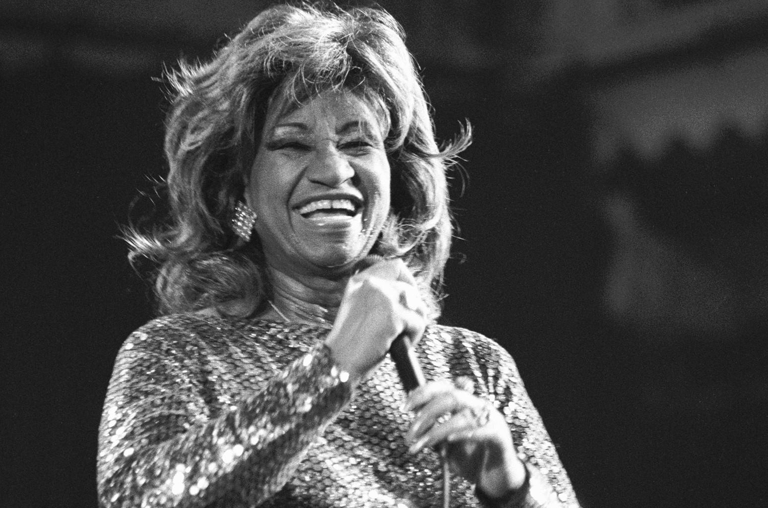 Celia Cruz performs in 1987