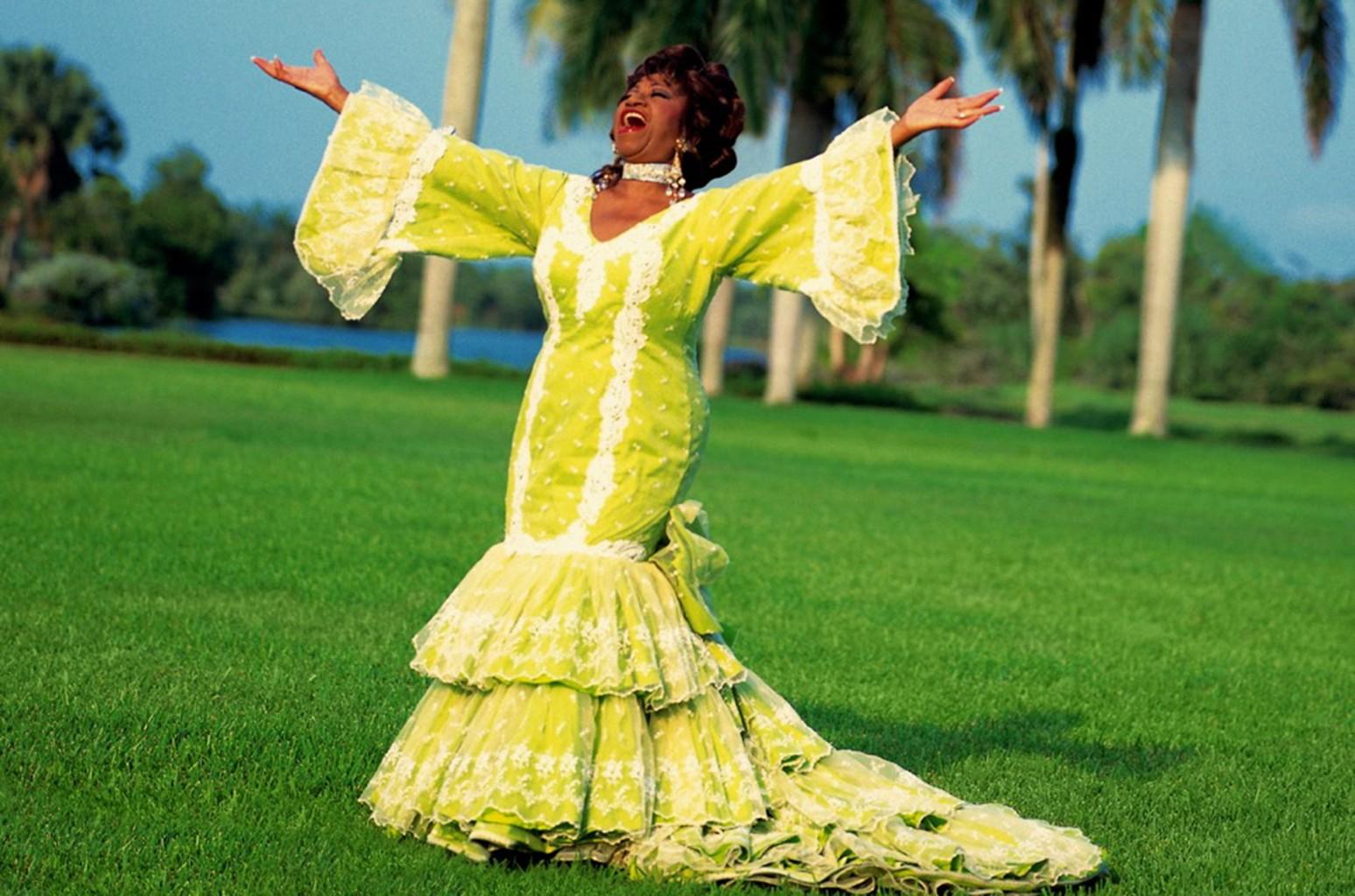 Celia Cruz photo from the Smithsonian National Portrait Gallery.