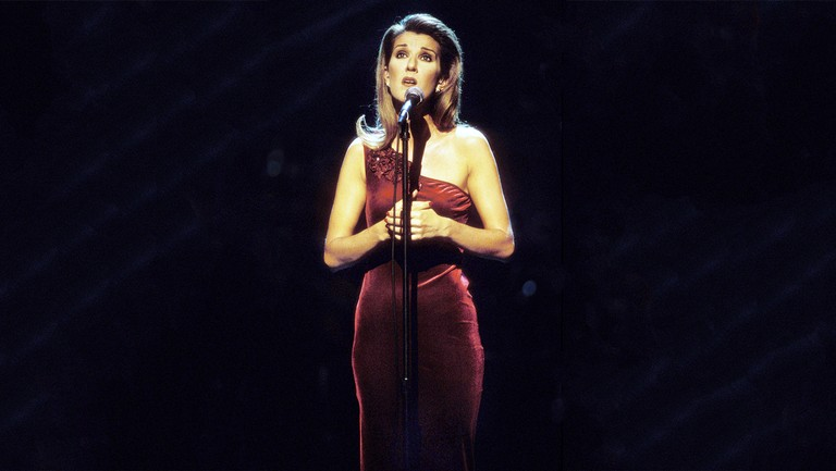 <p>Celine Dion performs on &#39&#x3B;A Gift of Song&#39&#x3B; in New York City in 1997.</p>