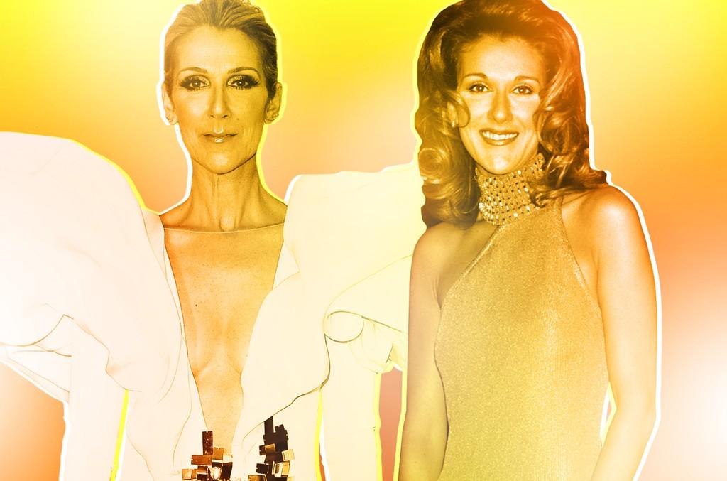 Celine Dion at the 2017 Billboard Music Awards (left); 1996 Billboard Music Awards (right)