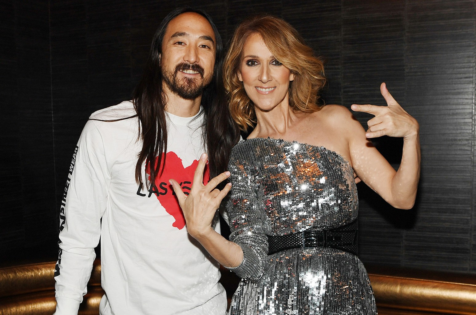 Steve Aoki and Celine Dion