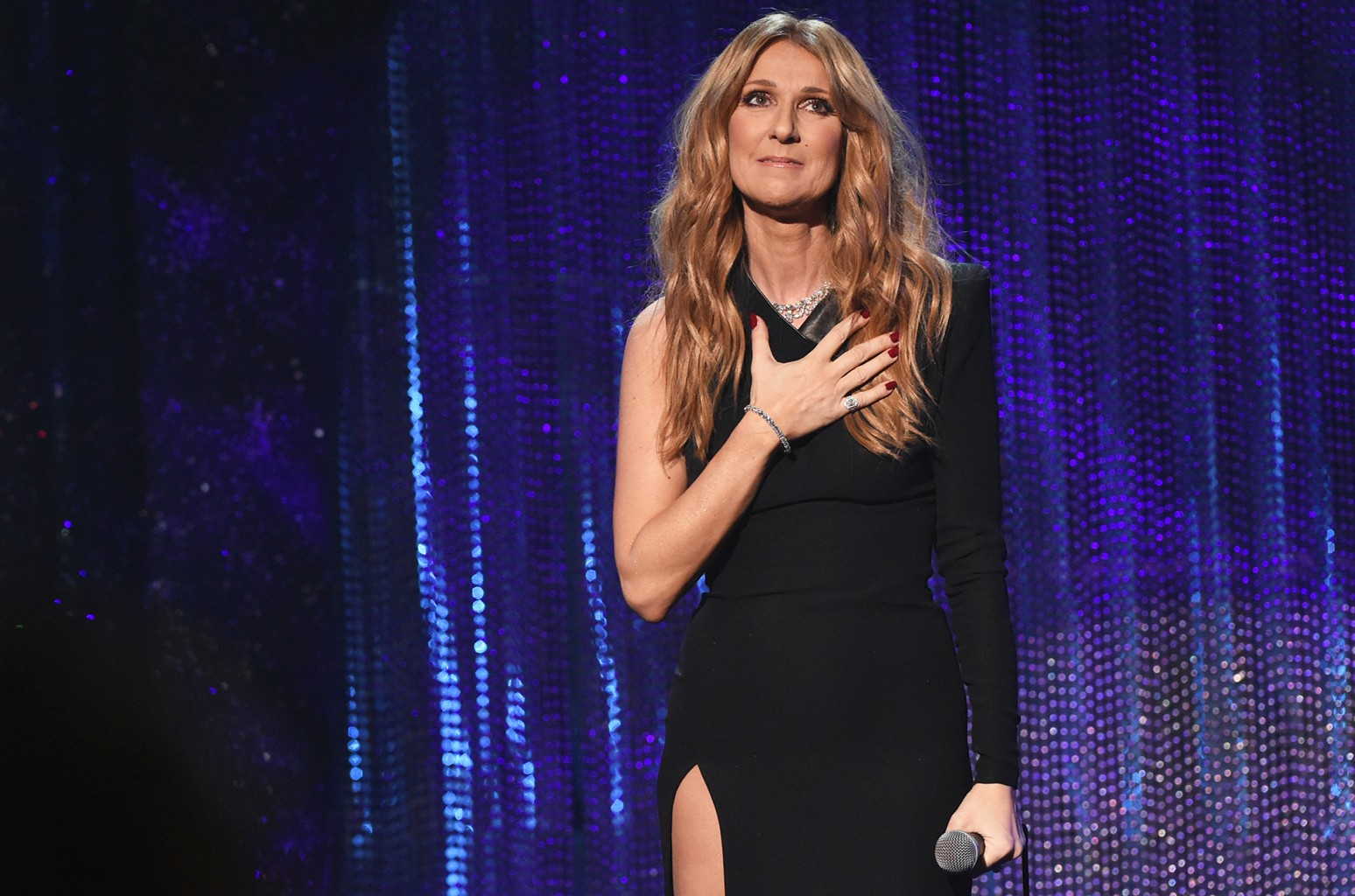 Celine Dion performs in Las Vegas.