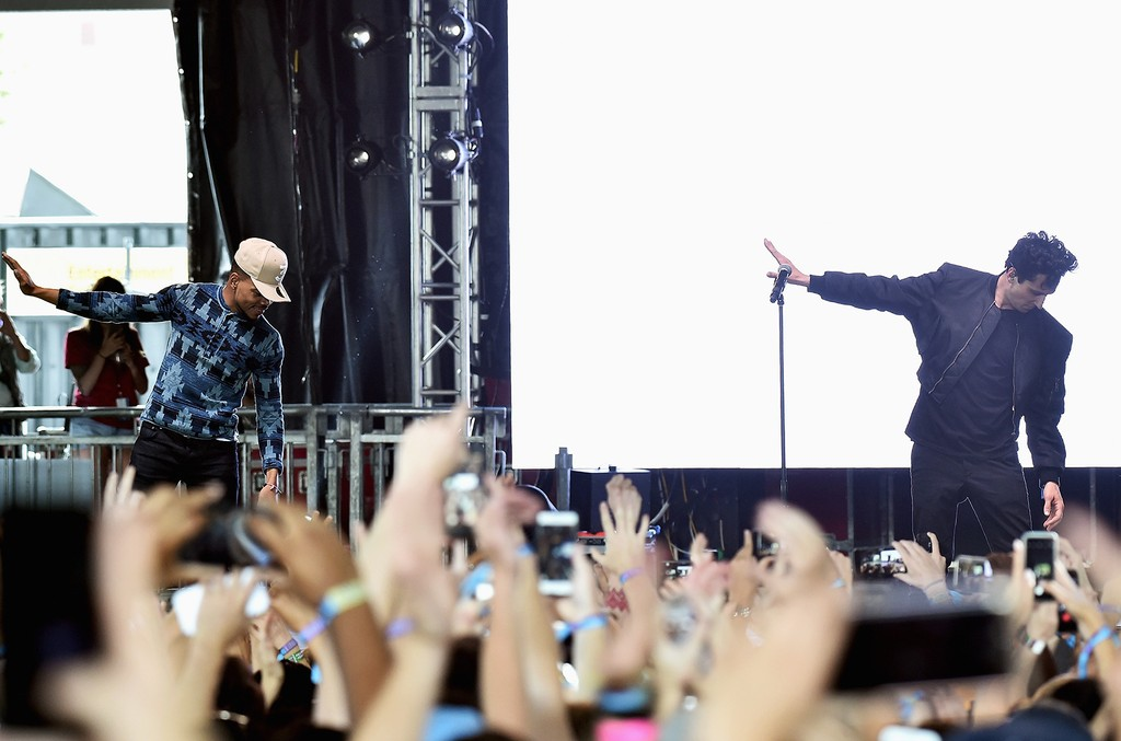 Chance The Rapper performs with Francis & the Lights  onstage during the 2017 Governors Ball Music Festival - Day 1 at Randall's Island on June 2, 2017 in New York City.