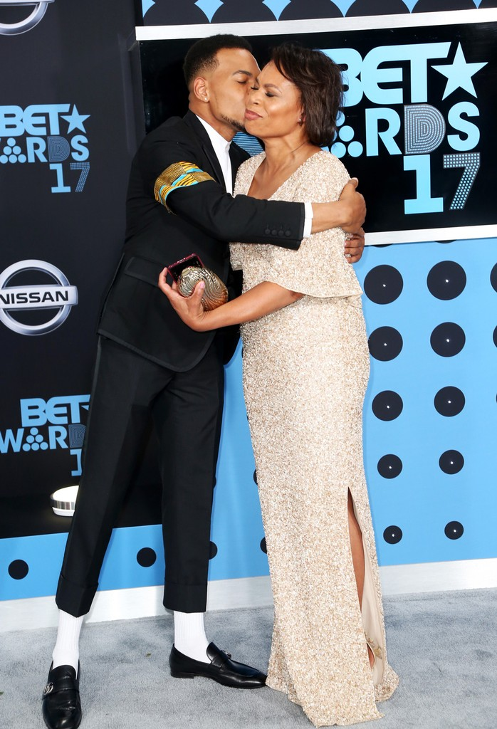 Chance the Rapper and Lisa Bennett at the 2017 BET Awards at Microsoft Square on June 25, 2017 in Los Angeles.