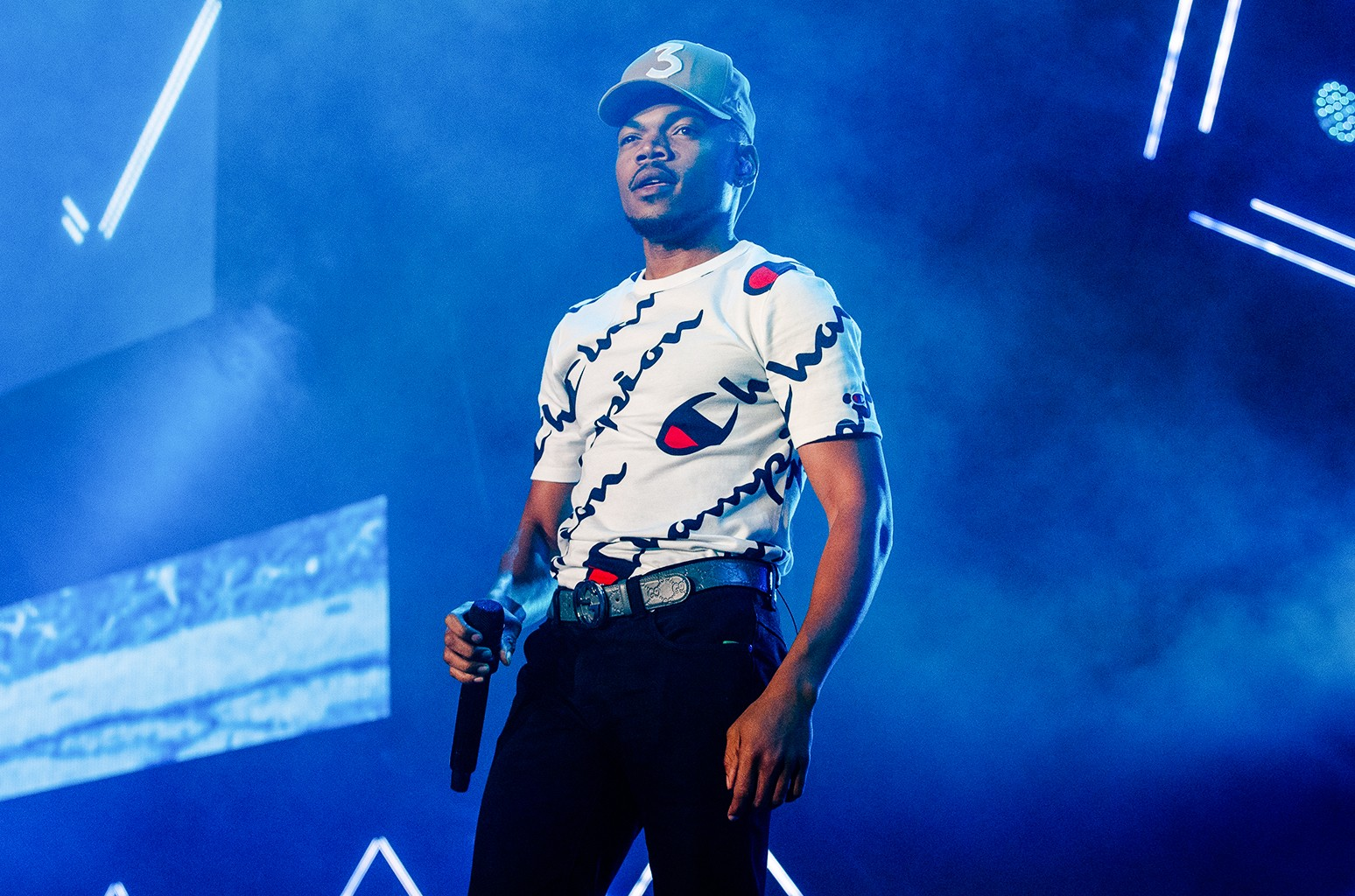 Chance The Rapper performs at 2017 Essence Festival at the Mercedes-Benz Superdome on July 2, 2017 in New Orleans.
