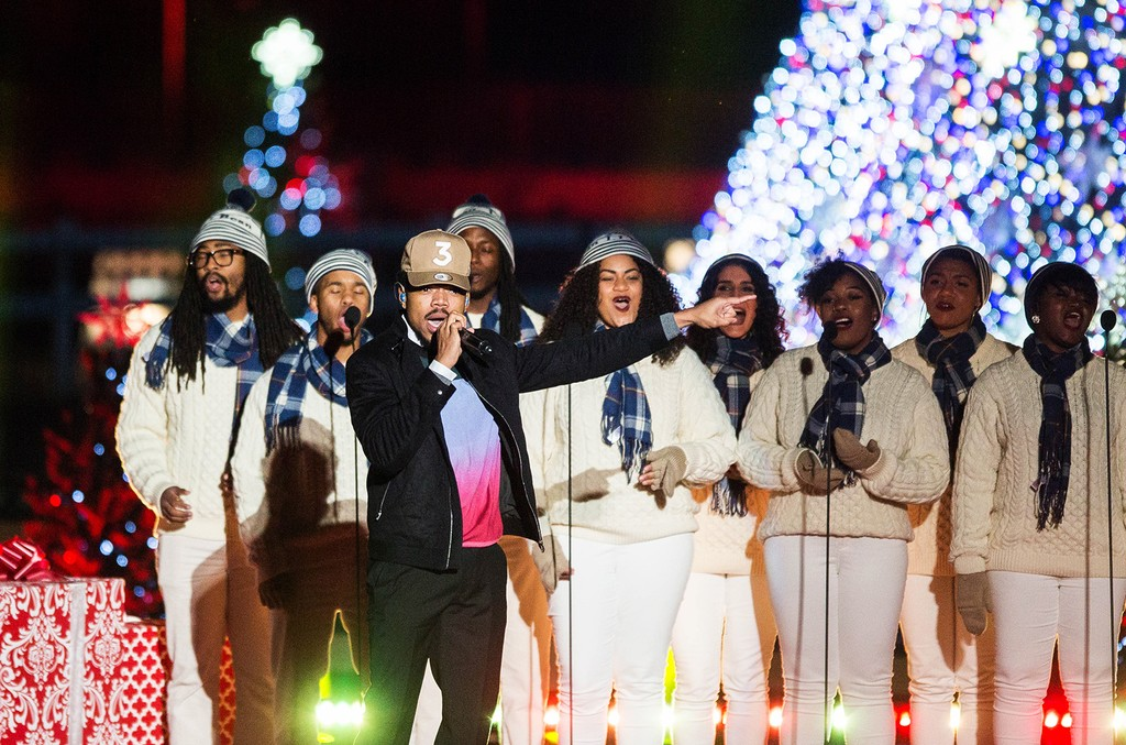 Chance the Rapper performs during the 94th National Annual Christmas Tree Lighting in President's Park on Dec. 1, 2016  in Washington, D.C.