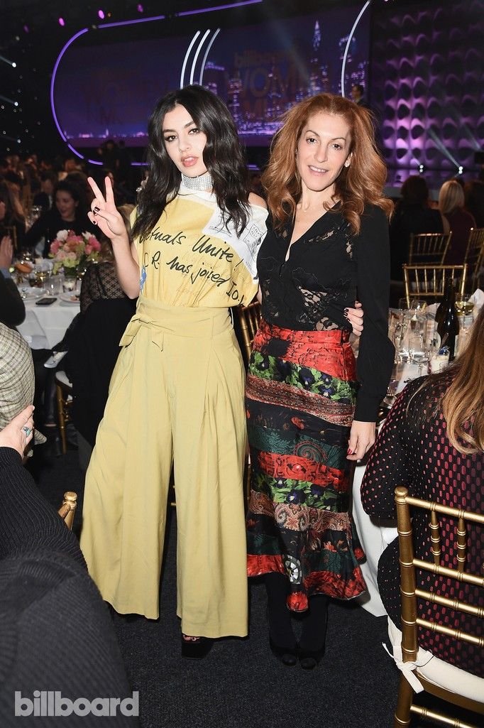Charli XCX  and Julie Greenwald attend the Billboard Women in Music 2016 event on Dec. 9, 2016 in New York City.