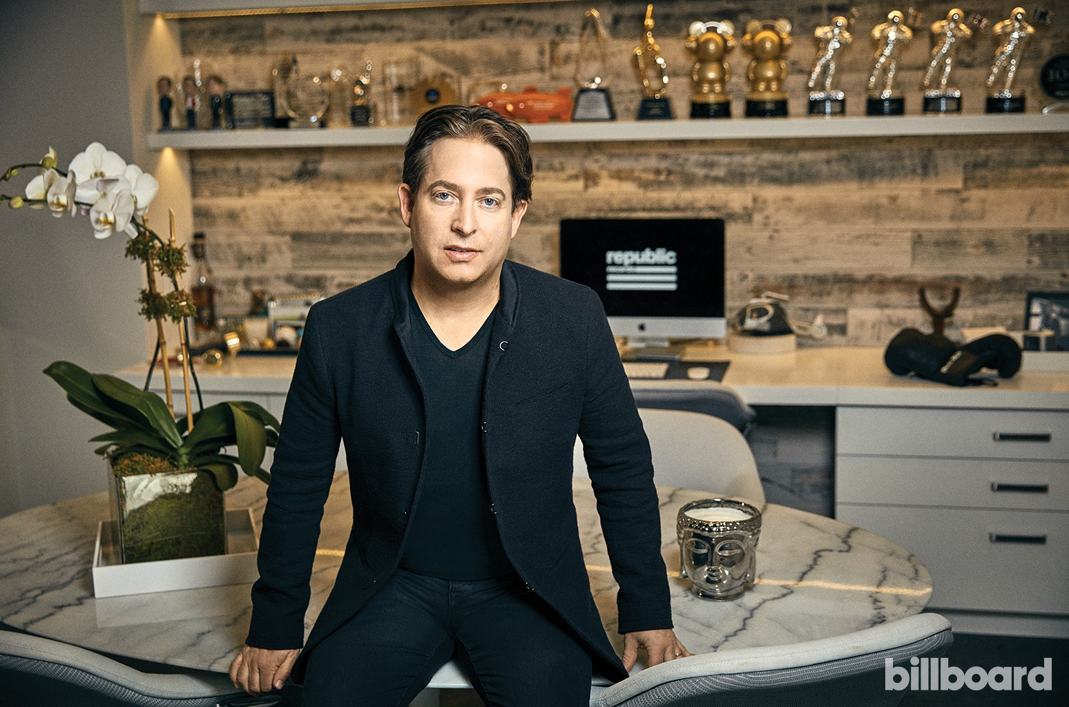 Charlie Walk photographed on Jan. 17 at Republic Records in New York.