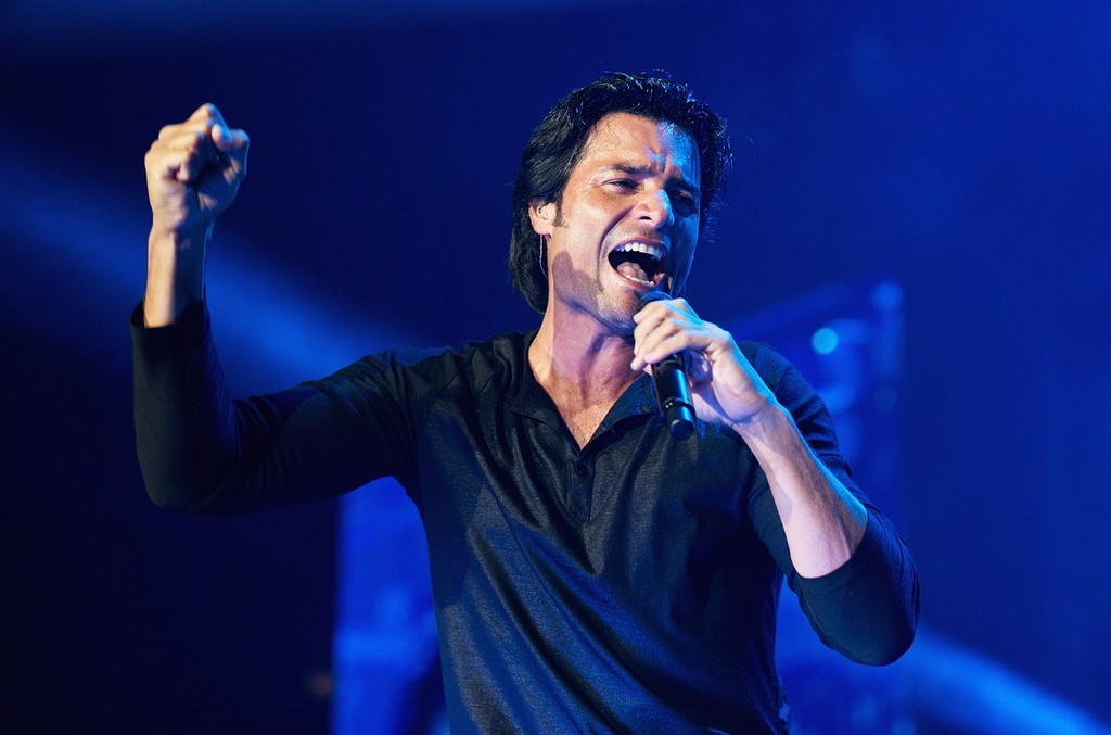 Chayanne performs during the Gigant3s Tour at Allstate Arena on Aug. 19, 2012 in Rosemont, Ill.