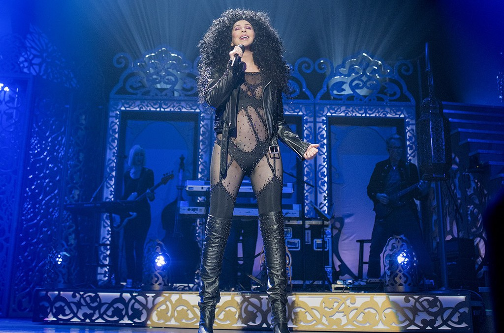 Cher performs at Park Theater in Las Vegas on Feb. 8, 2017.