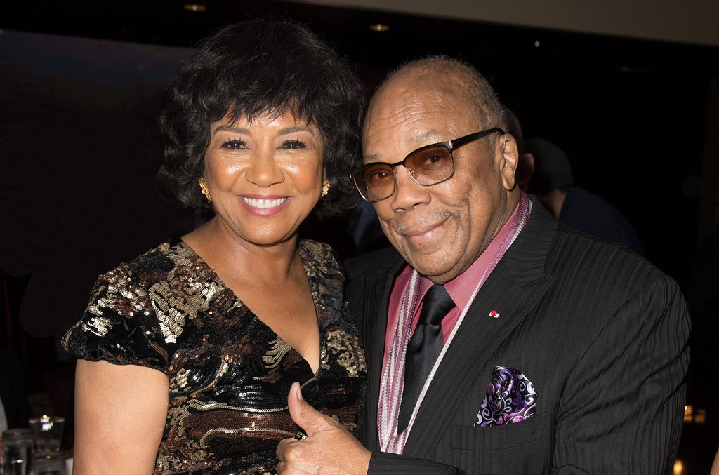 Cheryl Boone Isaacs and Quincy Jones