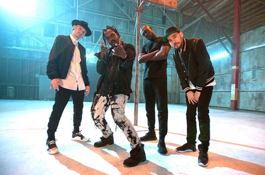 (L to R) Chester Bennington of Linkin Park, Pusha T, Stormzy & Mike Shinoda