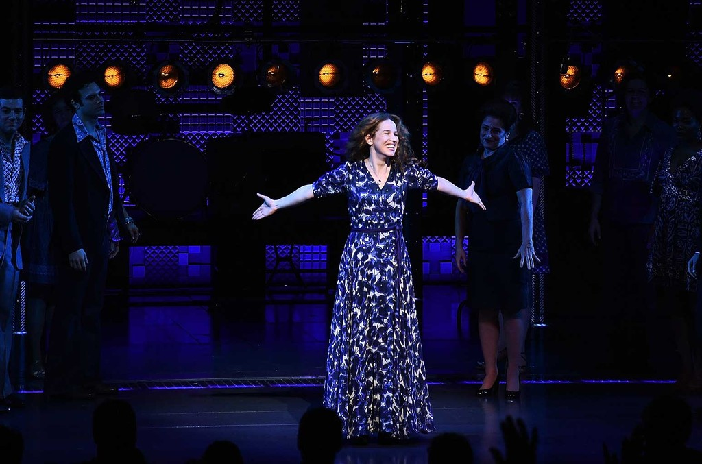 Chilina Kennedy performs during the curtain call of 'Beautiful - The Carole King Musical' at Stephen Sondheim Theatre on Jan. 12, 2017 in New York City.