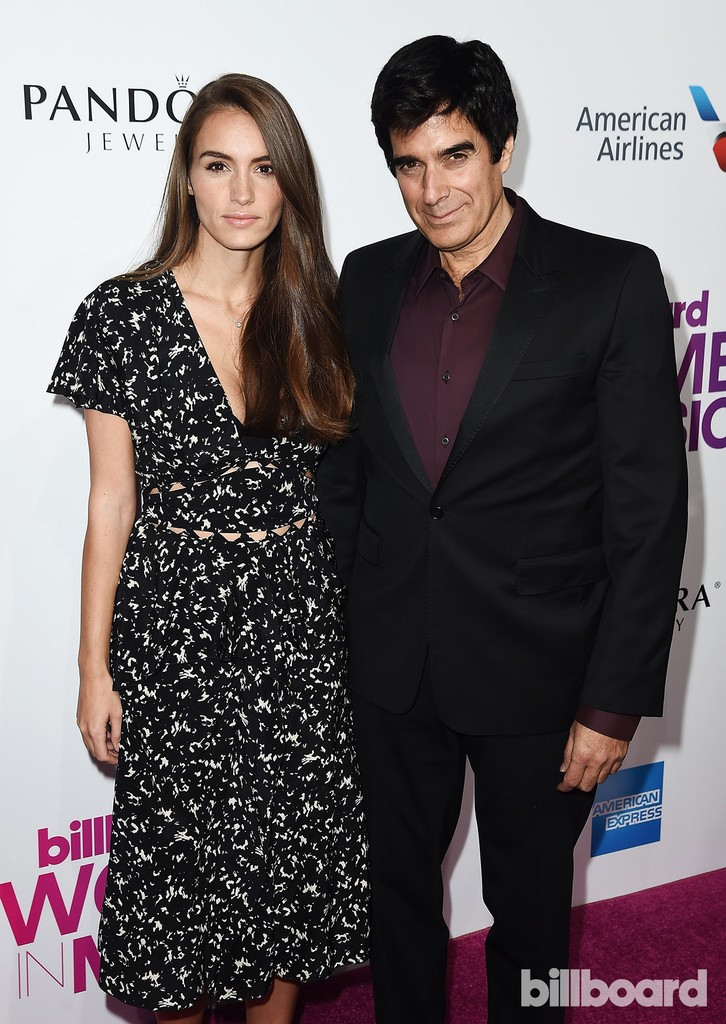Chloe Gosselin and David Copperfield attend the Billboard Women in Music 2016 event on Dec. 9, 2016 in New York City.