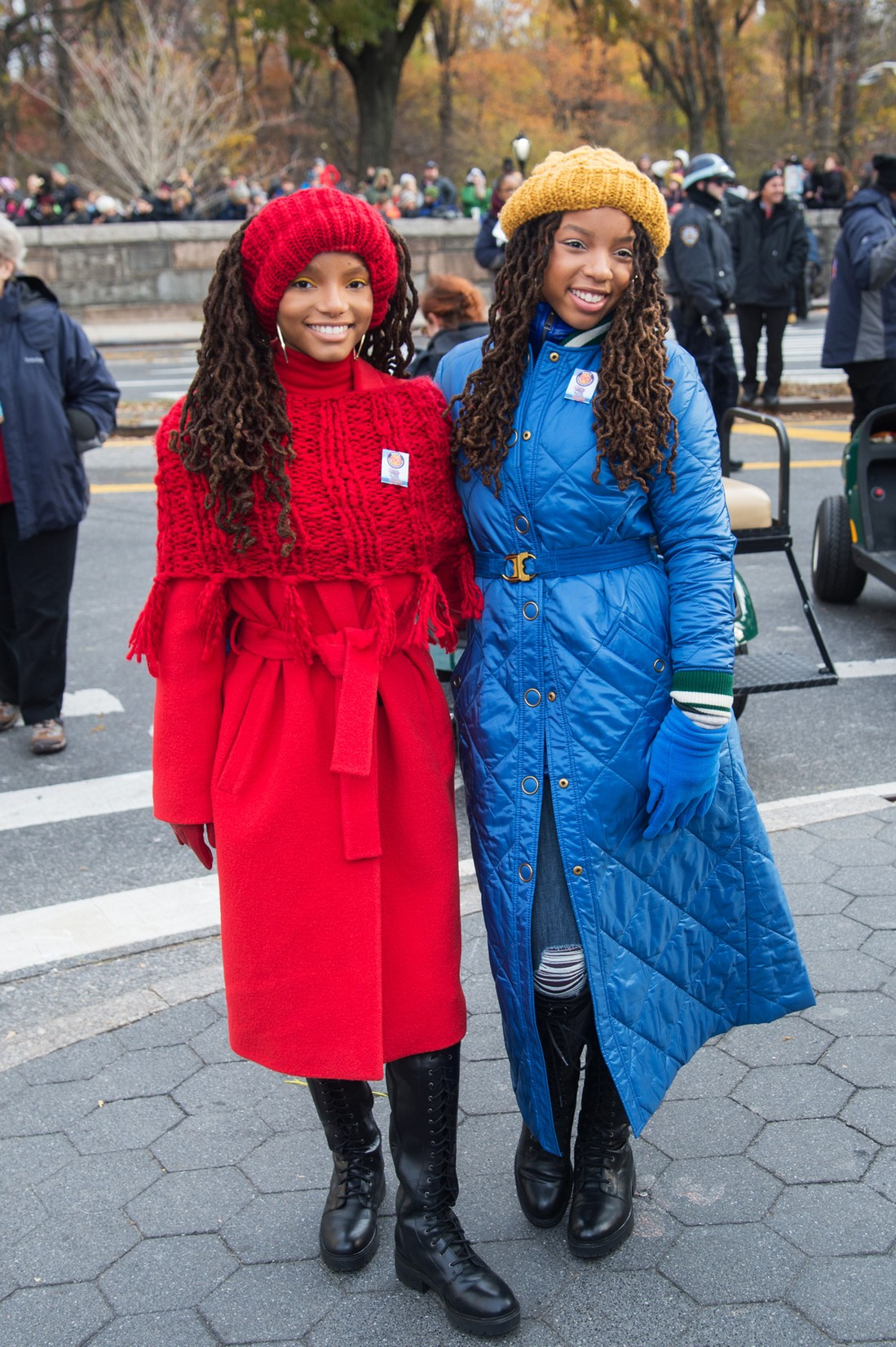Chloe and Halle attends the 90th Annual Macy's Thanksgiving Day Parade on Nov. 24, 2016 in New York City.