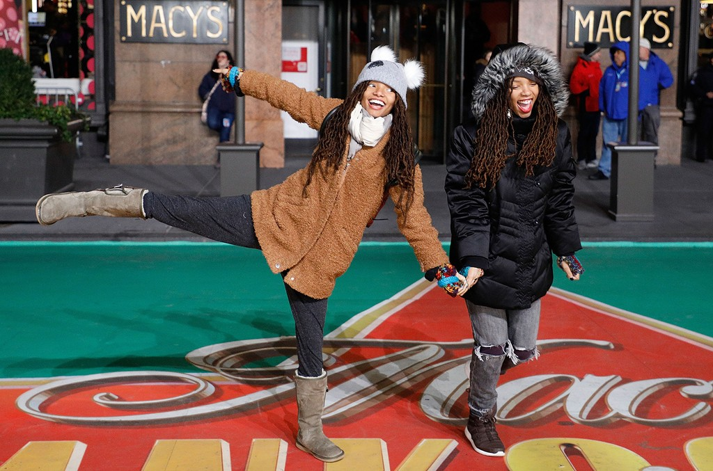 Chloe x Halle attend Macy's Thanksgiving Day Parade rehearsals at Macy's on Nov. 21, 2016 in New York City.