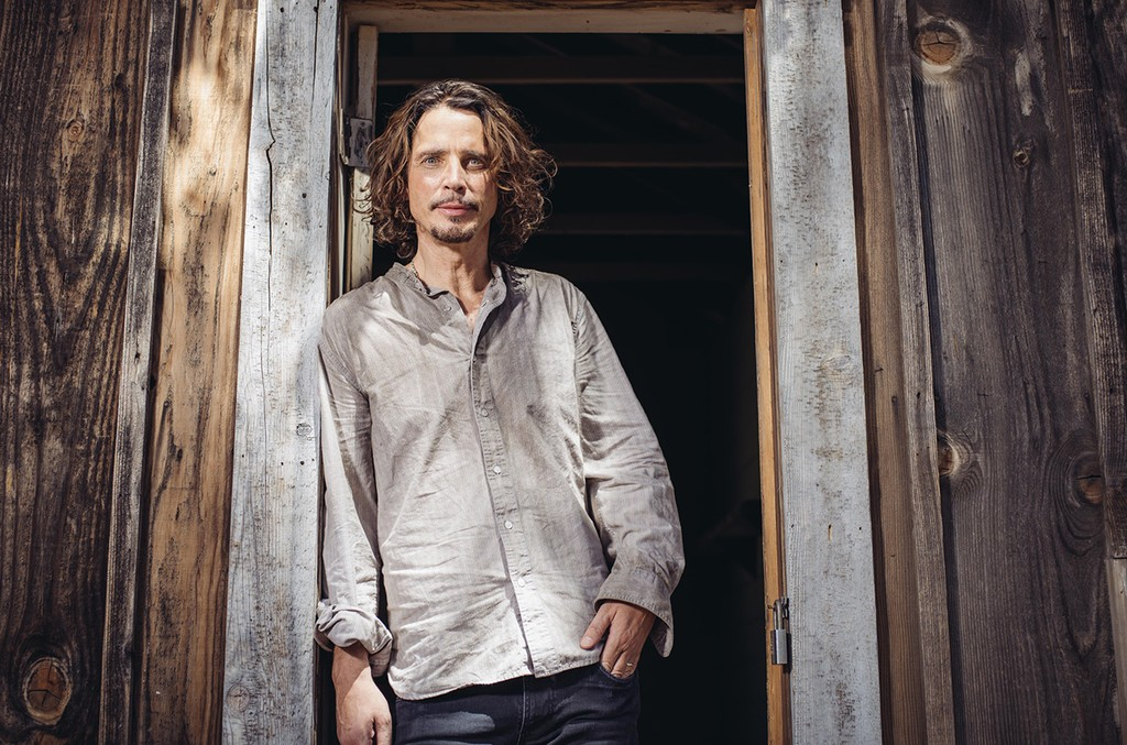 "Chris Cornell poses for a portrait to promote his latest album, ""Higher Truth,"" during a music video shoot in Agoura Hills, Calif."
