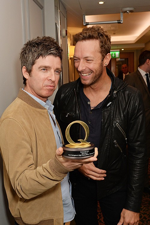 Noel Gallagher and Chris Martin attend the Q Awards