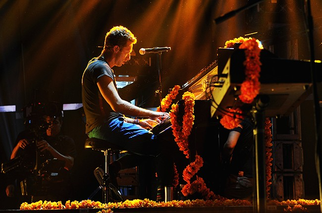 Chris Martin of Coldplay, iheartradio concert 2015