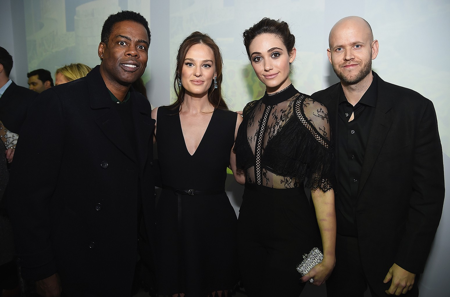 Chris Rock, Sofia Ek, Emmy Rossum and Daniel EK