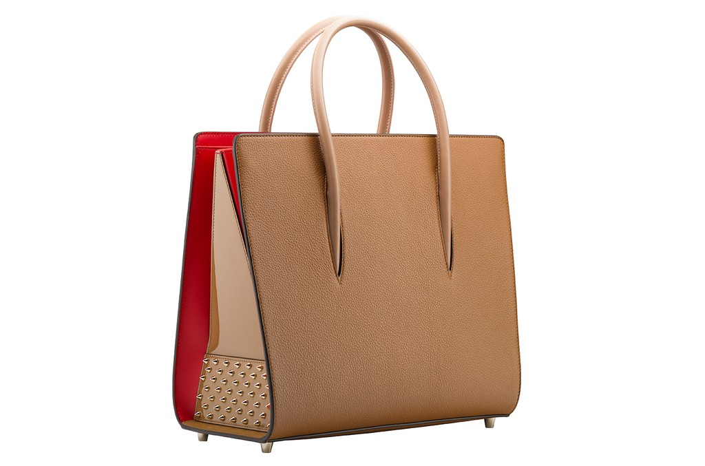 Christian Louboutin Paloma Large Tote Bag in Noisette Calfskin