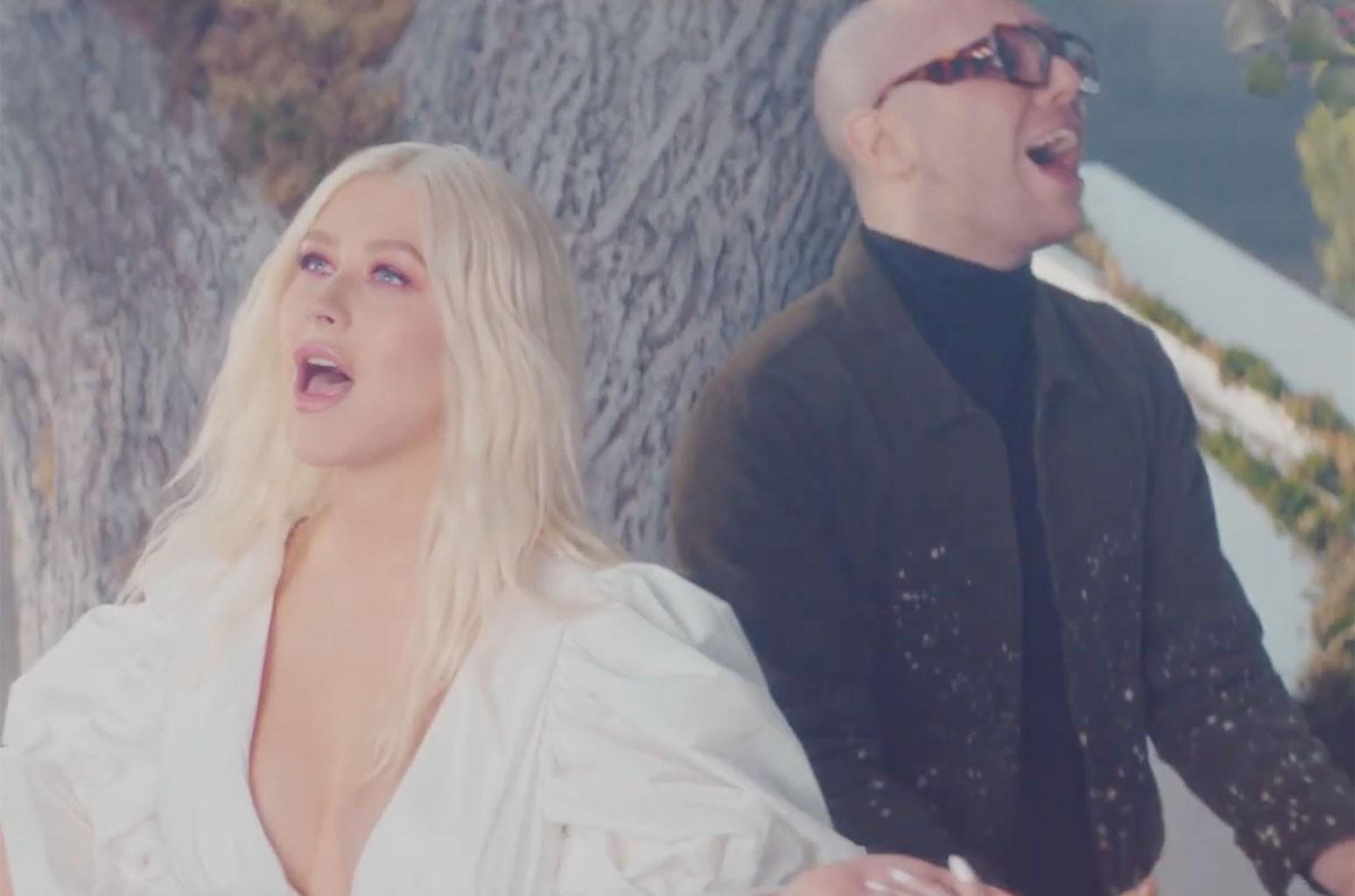 Christina Aguilera, A Great Big World Fall On Me