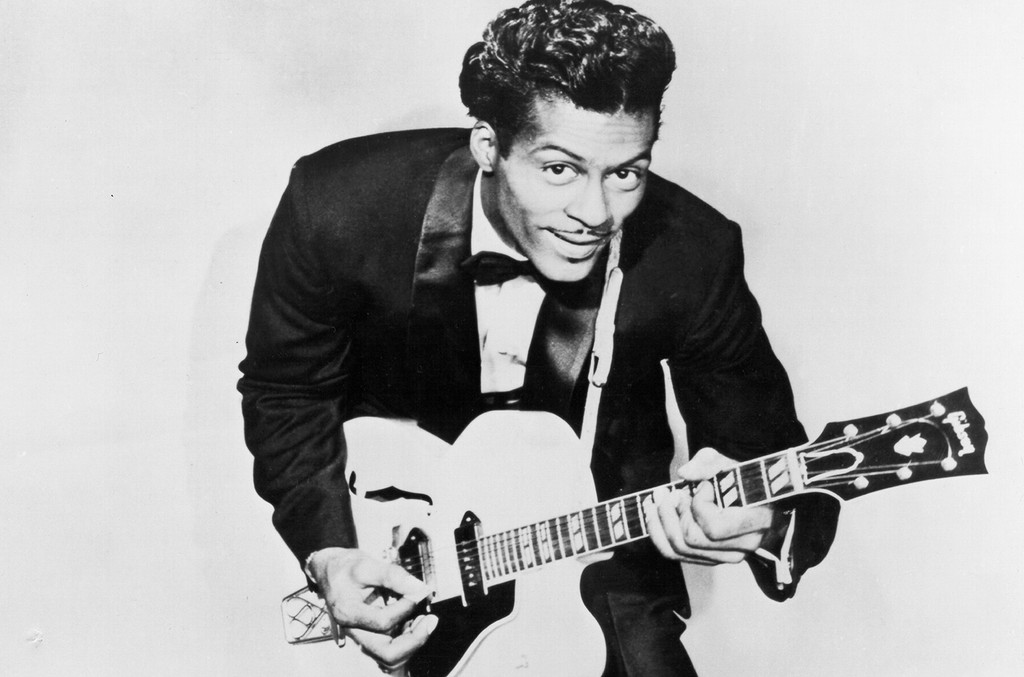 Chuck Berry poses for a portrait in 1958.