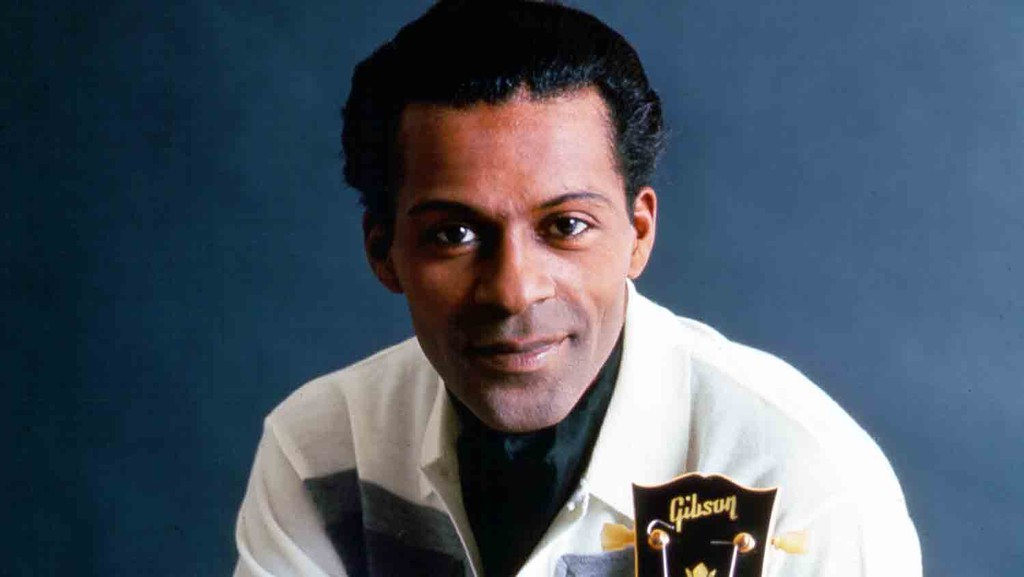 Chuck Berry poses for a portrait session in circa 1958 in Chicago.