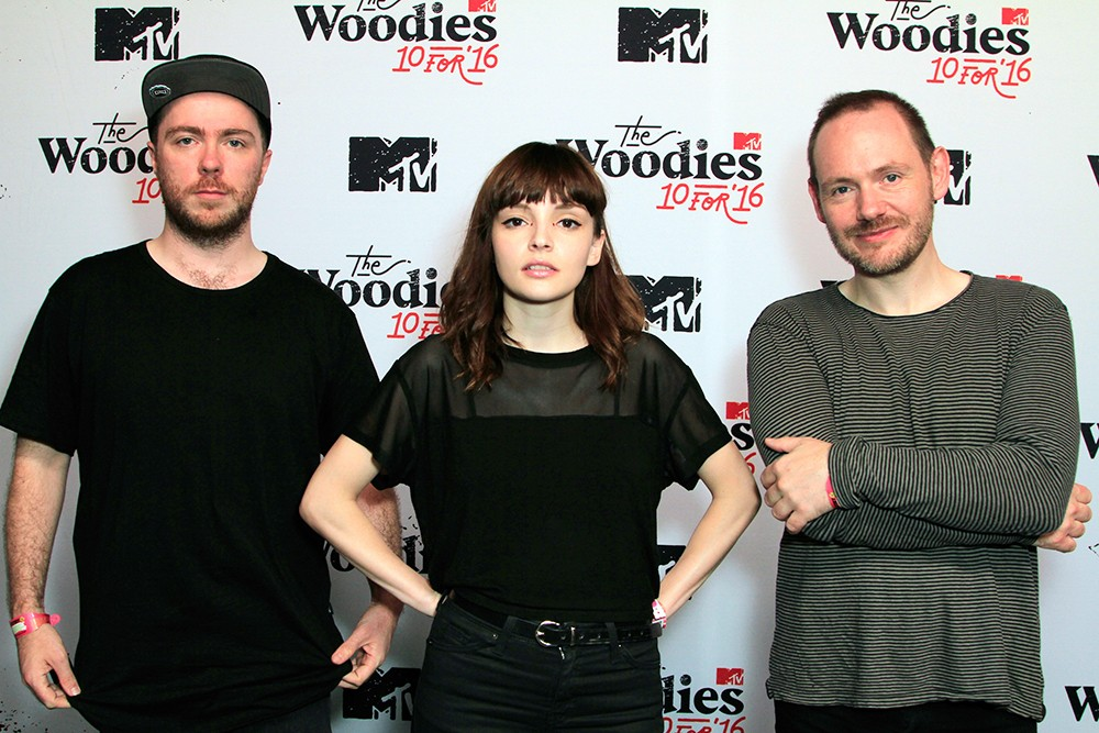 Martin Doherty, Lauren Mayberry and Iain Cook of Chvrches